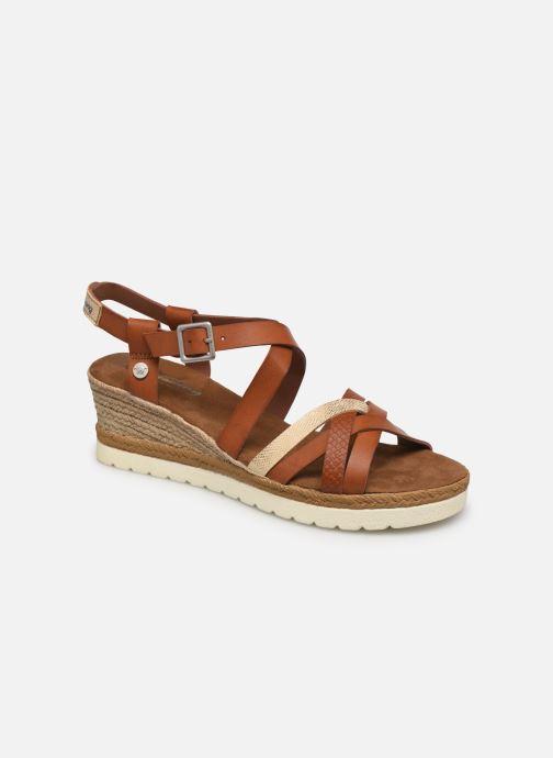 Sandales et nu-pieds Mustang shoes Shadi Marron vue détail/paire