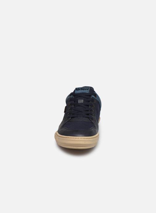 Baskets Kickers JUNGLE H Bleu vue portées chaussures