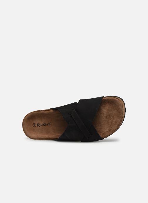 Sandalen Kickers ODIARIS schwarz ansicht von links