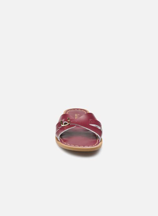 Clogs & Pantoletten Salt-Water SW C SLIDES weinrot schuhe getragen