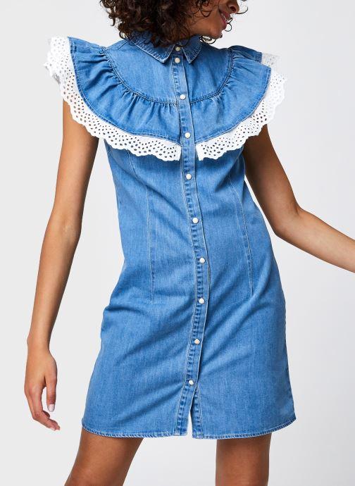 Kleding OBJECT Objathena S/L Dress Blauw detail