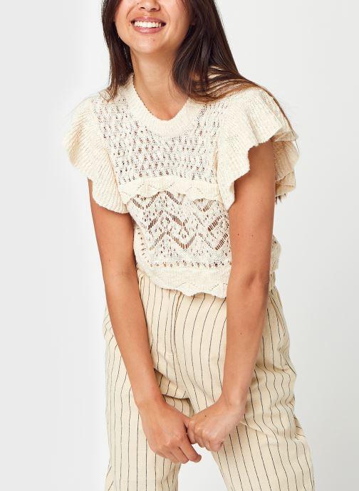 Kleding OBJECT Objjomana S/L Knit Pullover Beige detail