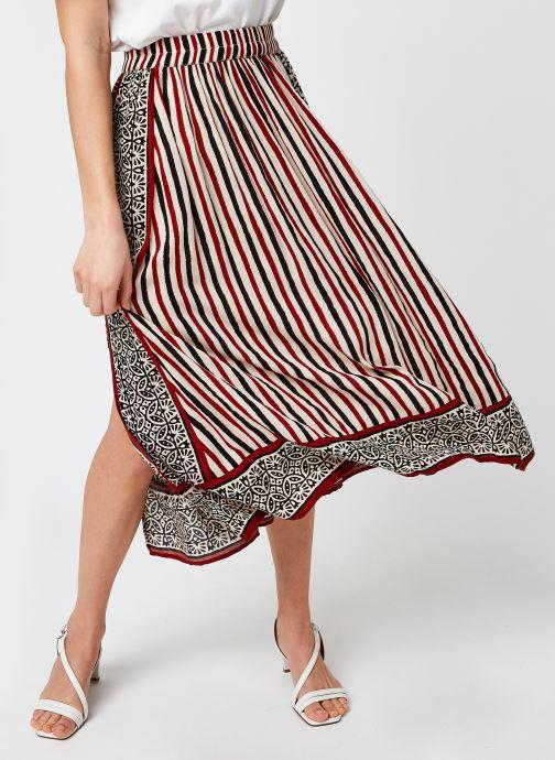 Vêtements Stella Forest JUPE MIDI FENUE SAVANNAH Rouge vue détail/paire