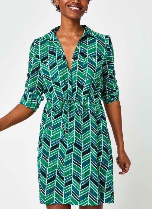 Vêtements Stella Forest ROBE CHEM COURTE MYRA Vert vue détail/paire