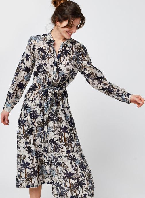 Vêtements Stella Forest ROBE CHEM MIDI JANA Bleu vue détail/paire