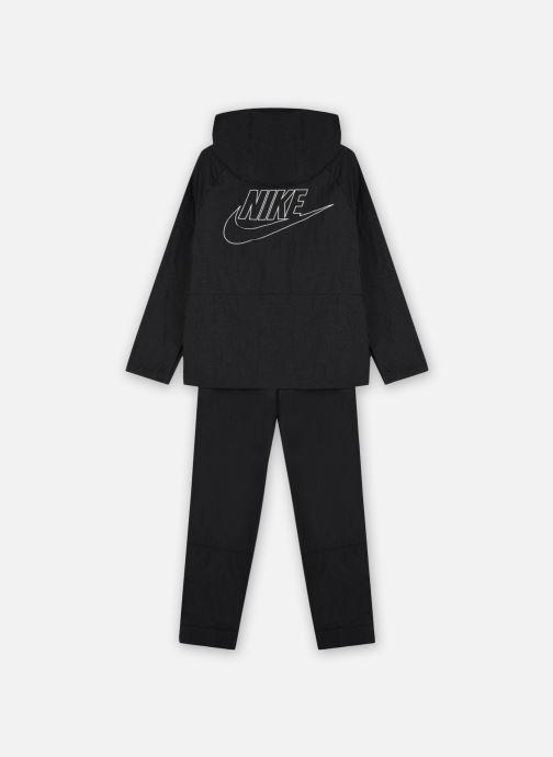 Vêtements Nike U Nsw Tracksuit Wvn Hbr Hd Noir vue portées chaussures