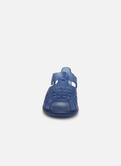 Sandalen Igor Tobby Velcro blau schuhe getragen