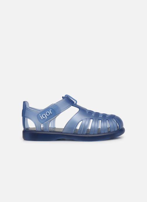 Sandalen Igor Tobby Velcro blau ansicht von hinten