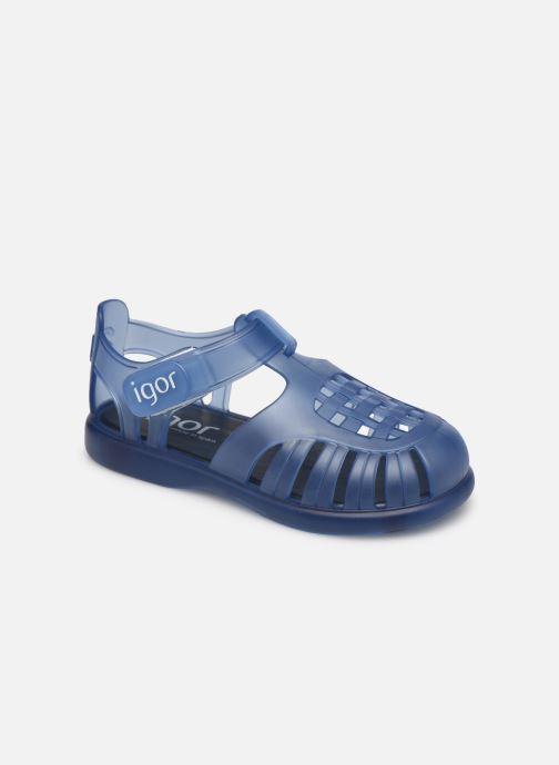 Sandalen Igor Tobby Velcro blau detaillierte ansicht/modell