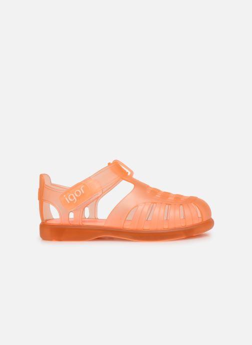 Sandalen Igor Tobby Velcro orange ansicht von hinten