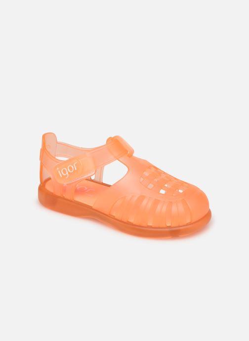 Sandalen Igor Tobby Velcro orange detaillierte ansicht/modell