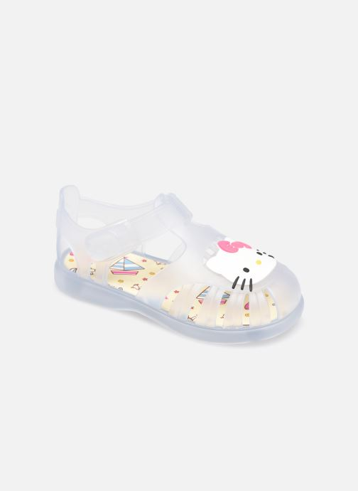 Sandales et nu-pieds Igor Tobby Velcro Kitty Blanc vue détail/paire