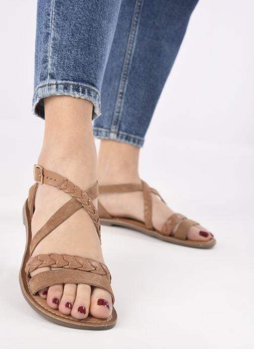 Sandali e scarpe aperte Kickers DIAPPO Marrone immagine dal basso