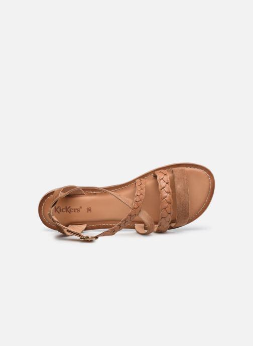 Sandali e scarpe aperte Kickers DIAPPO Marrone immagine sinistra