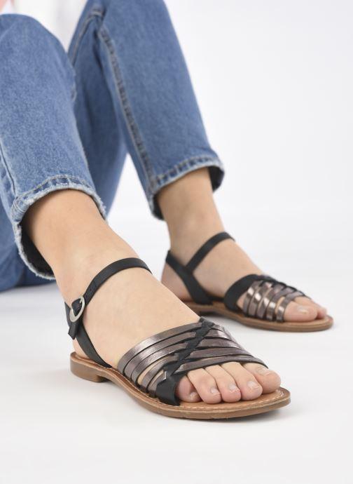 Sandales et nu-pieds Kickers ETCETERA Noir vue bas / vue portée sac