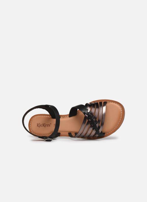 Sandales et nu-pieds Kickers ETCETERA Noir vue gauche