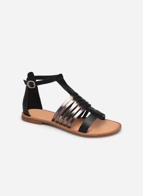 Sandales et nu-pieds Kickers ETIKET Noir vue détail/paire
