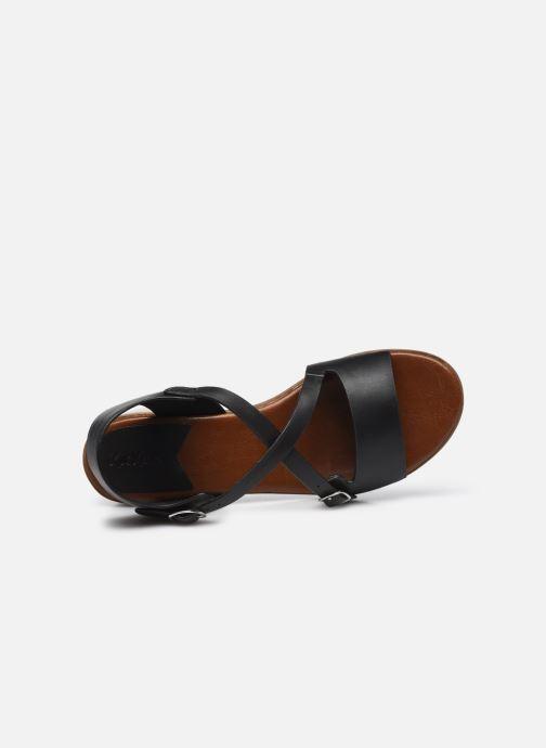 Sandalen Kickers VOLUBILIS schwarz ansicht von links
