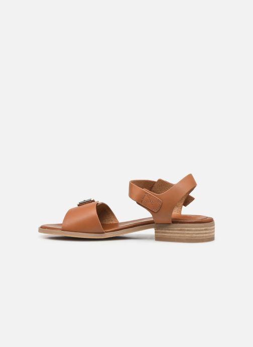 Sandalen Kickers BUCIDI braun ansicht von vorne
