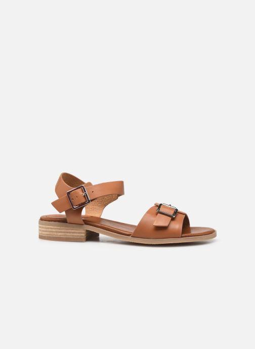 Sandalen Kickers BUCIDI braun ansicht von hinten