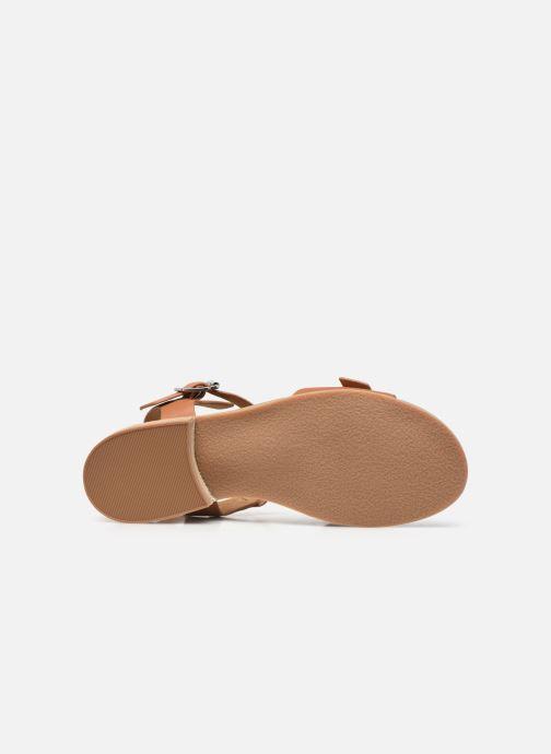 Sandalen Kickers BUCIDI braun ansicht von oben