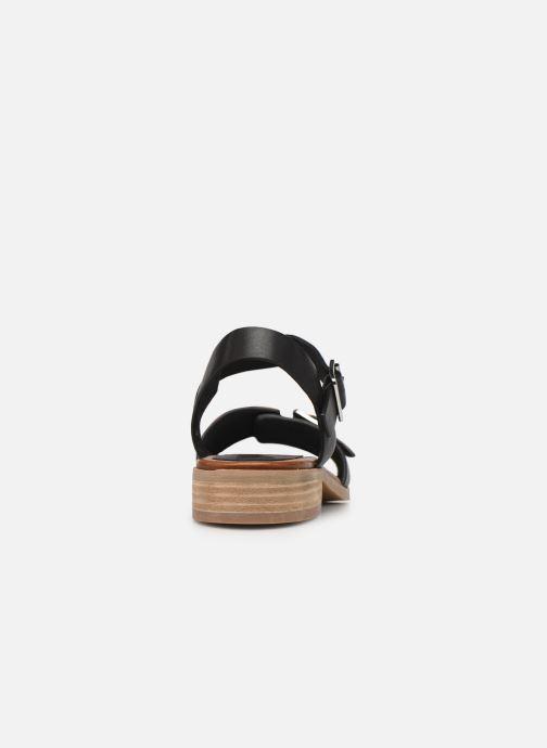 Sandales et nu-pieds Kickers BUCIDI Noir vue droite