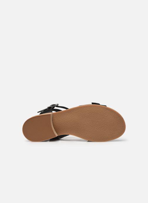Sandales et nu-pieds Kickers BUCIDI Noir vue haut