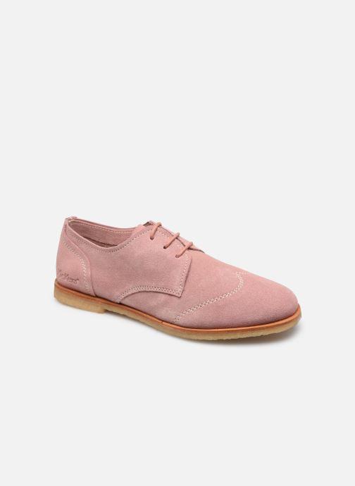 Chaussures à lacets Kickers KICKOU Rose vue détail/paire