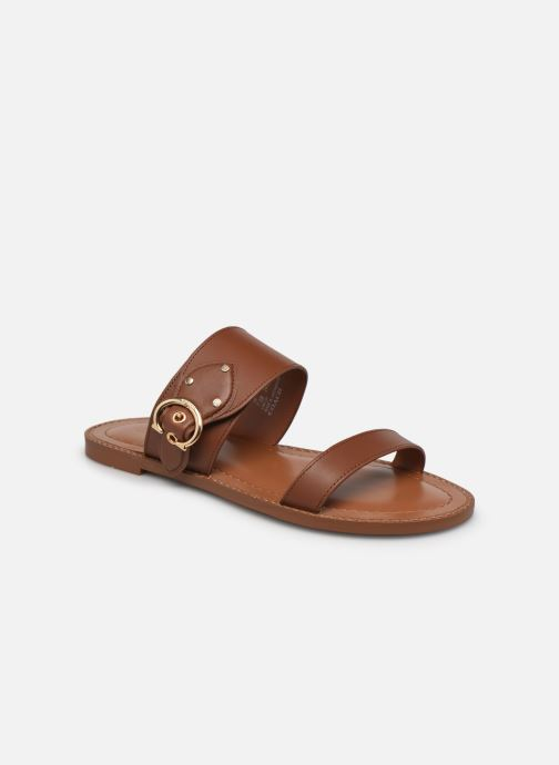 Clogs & Pantoletten Coach Harlow Leather Sandal braun detaillierte ansicht/modell
