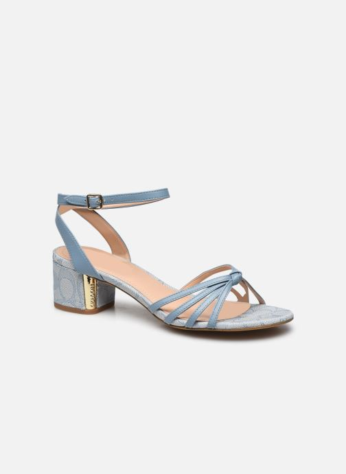 Elouise Leather-Jacquard Sandal
