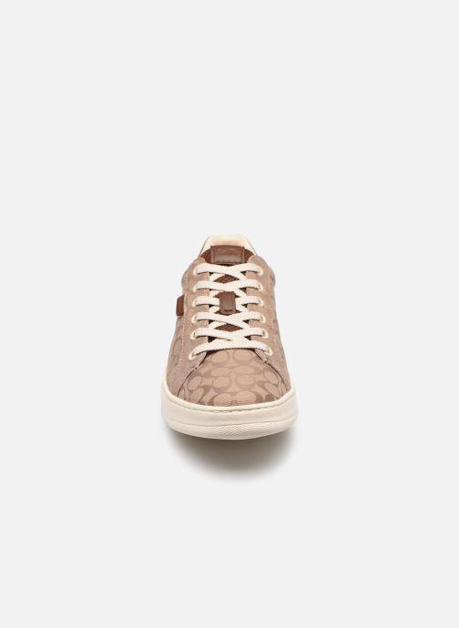 Sneaker Coach Lowline Jacquard braun schuhe getragen