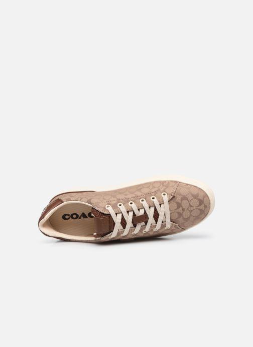Sneaker Coach Lowline Jacquard braun ansicht von links