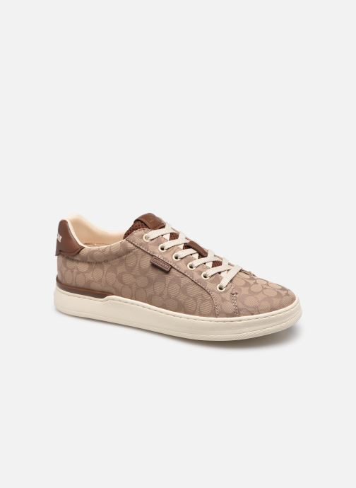 Sneaker Coach Lowline Jacquard braun detaillierte ansicht/modell