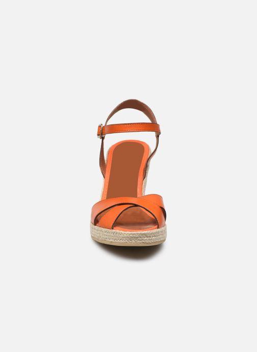 Espadrilles Mon Soulier Madrid orange schuhe getragen