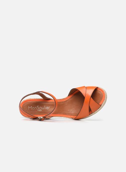 Espadrilles Mon Soulier Madrid orange ansicht von links