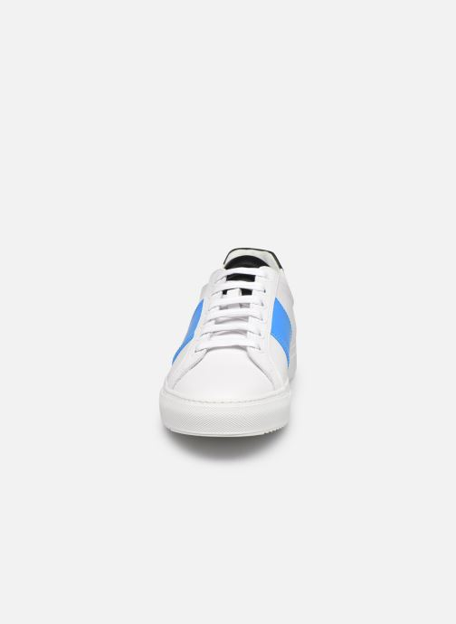 Baskets National Standard M04-21S Blanc vue portées chaussures