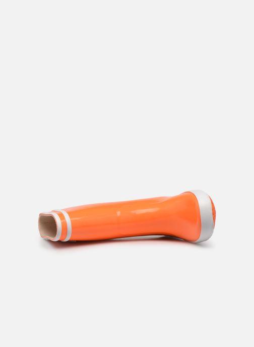 Stiefel Aigle Lolly Pop Neon orange ansicht von links
