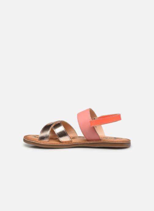 Sandalen Kickers Dyacross rosa ansicht von vorne