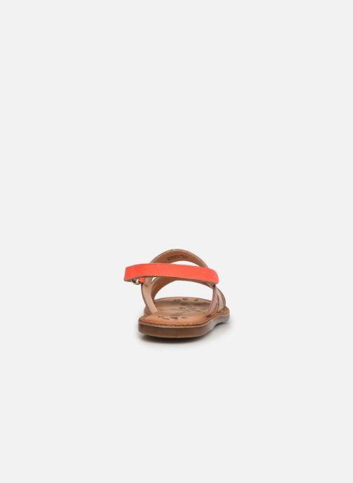 Sandalen Kickers Dyacross rosa ansicht von rechts
