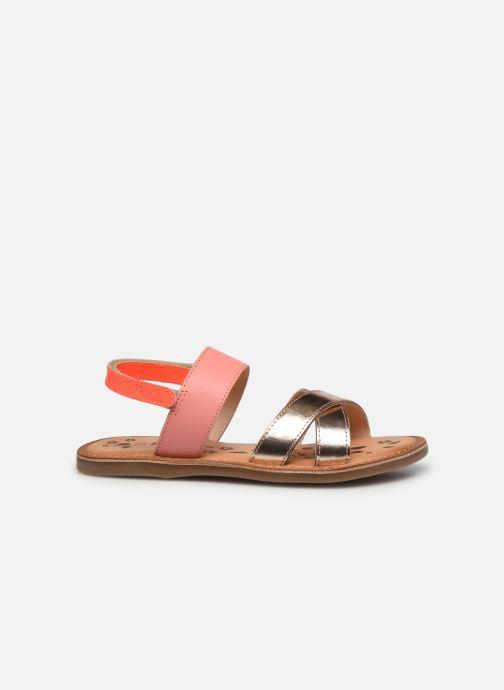Sandalen Kickers Dyacross rosa ansicht von hinten