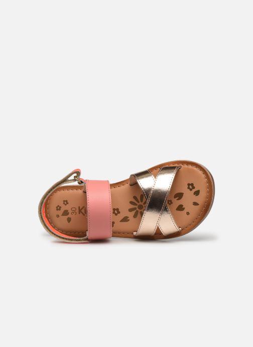 Sandalen Kickers Dyacross rosa ansicht von links