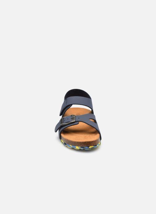 Sandalen Kickers Sunkro blau schuhe getragen