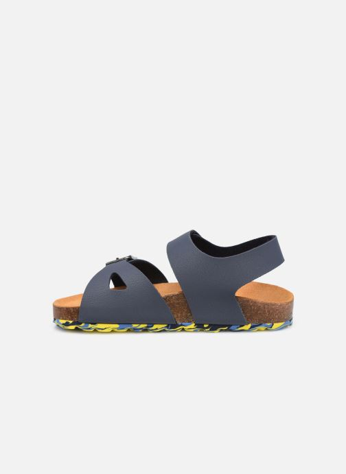 Sandalen Kickers Sunkro blau ansicht von vorne