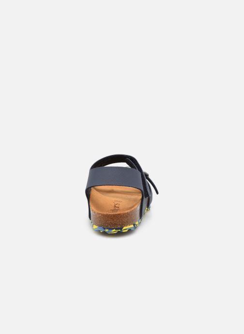 Sandalen Kickers Sunkro blau ansicht von rechts