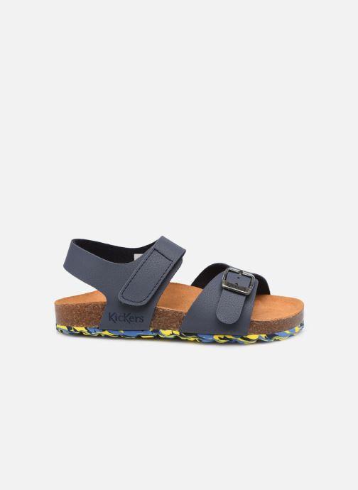Sandalen Kickers Sunkro blau ansicht von hinten