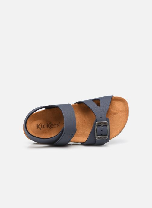 Sandalen Kickers Sunkro blau ansicht von links