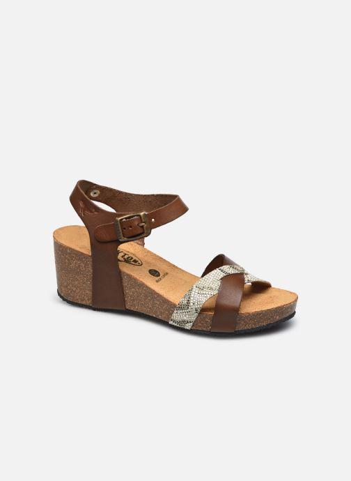 Sandales et nu-pieds Plakton Brandy Or et bronze vue détail/paire