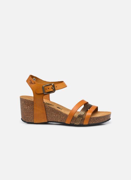 Sandalen Plakton Brescia gelb ansicht von hinten