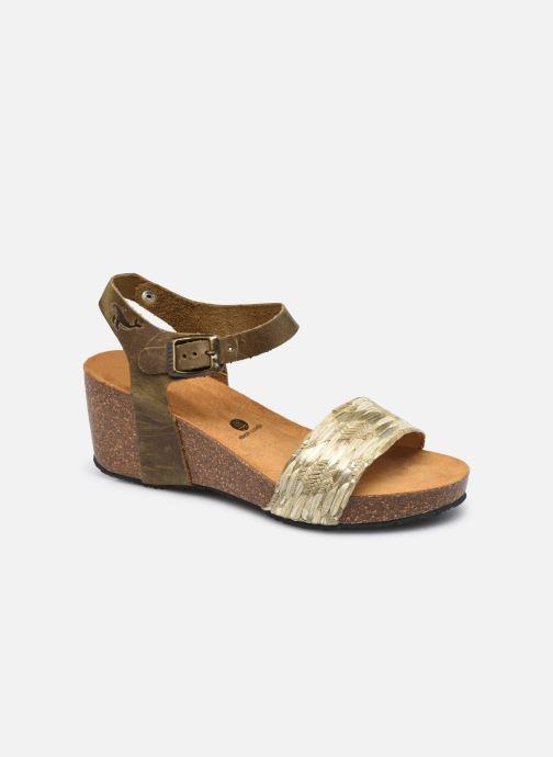 Sandales et nu-pieds Plakton Brissa Marron vue détail/paire