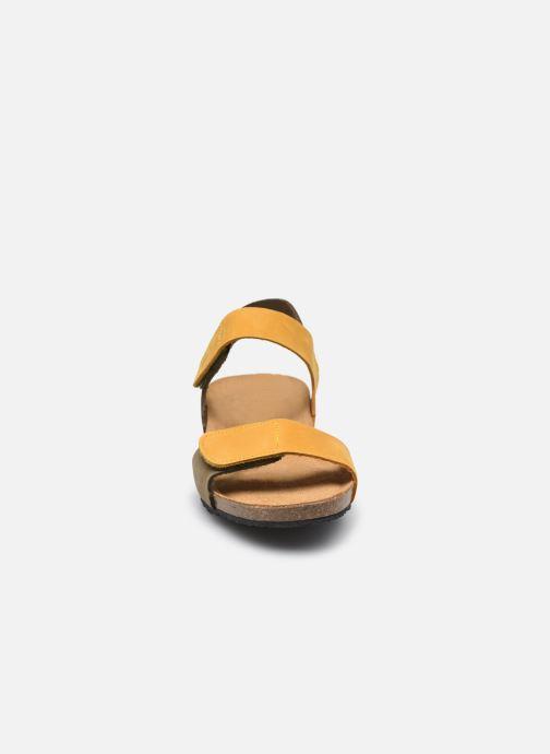Sandalen Plakton Norita gelb schuhe getragen